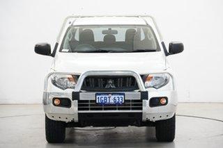 2016 Mitsubishi Triton MQ MY17 GLX Double Cab White 5 Speed Sports Automatic Cab Chassis.