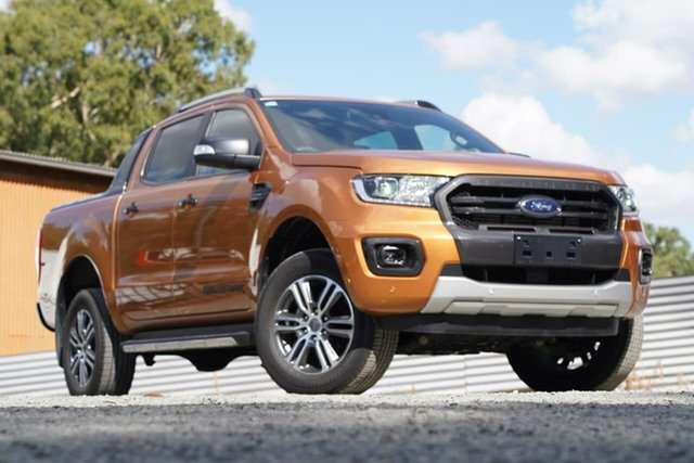 Used Ford Ranger PX MkIII 2020.25MY Wildtrak Clare, 2020 Ford Ranger PX MkIII 2020.25MY Wildtrak Orange 10 Speed Sports Automatic Double Cab Pick Up