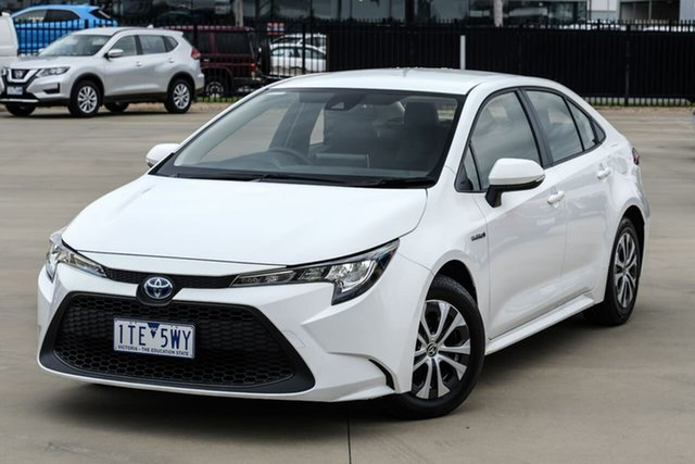 Used Toyota Corolla ZWE211R Ascent Sport E-CVT Hybrid Narre Warren, 2019 Toyota Corolla ZWE211R Ascent Sport E-CVT Hybrid White 10 Speed Constant Variable Sedan Hybrid