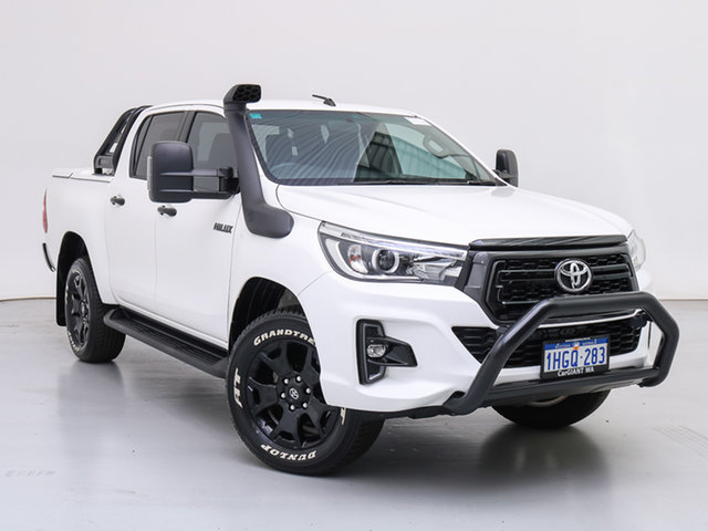 Used Toyota Hilux GUN126R MY19 Rogue (4x4), 2018 Toyota Hilux GUN126R MY19 Rogue (4x4) White 6 Speed Automatic Double Cab Pick Up