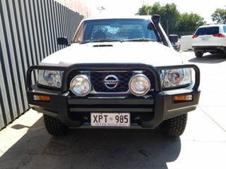 2007 Nissan Patrol GU 6 MY08 ST White 5 Speed Manual Cab Chassis.