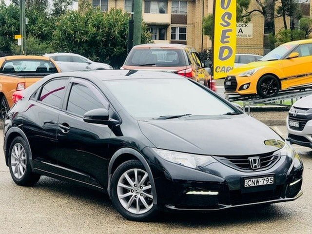 Used Honda Civic 9th Gen MY13 VTi-S Liverpool, 2013 Honda Civic 9th Gen MY13 VTi-S Black 5 Speed Sports Automatic Hatchback