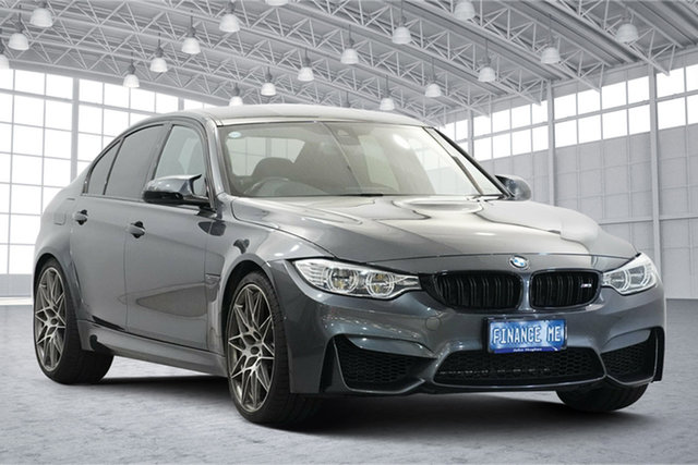 Used BMW M3 F80 LCI Competition M-DCT Victoria Park, 2016 BMW M3 F80 LCI Competition M-DCT Grey 7 Speed Sports Automatic Dual Clutch Sedan