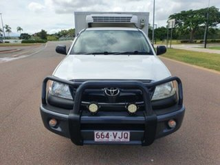 2008 Toyota Hilux GGN15R MY08 SR 4x2 White 5 Speed Automatic Cab Chassis.