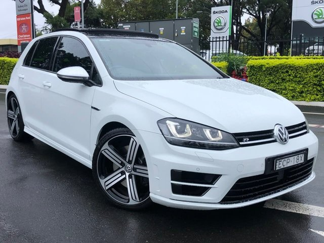 Used Volkswagen Golf VII MY16 R DSG 4MOTION Botany, 2016 Volkswagen Golf VII MY16 R DSG 4MOTION White 6 Speed Sports Automatic Dual Clutch Hatchback