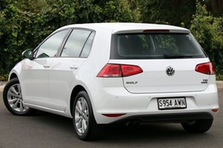 2013 Volkswagen Golf VII 90TSI DSG Comfortline Pure White 7 Speed Sports Automatic Dual Clutch.