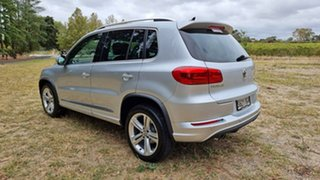 2015 Volkswagen Tiguan 5N MY15 155TSI DSG 4MOTION R-Line Silver 7 Speed Sports Automatic Dual Clutch
