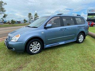 2010 Kia Grand Carnival VQ Premium Blue 5 Speed Sports Automatic Wagon.