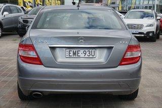 2010 Mercedes-Benz C-Class W204 MY10 C200 CGI Classic Grey 5 Speed Sports Automatic Sedan