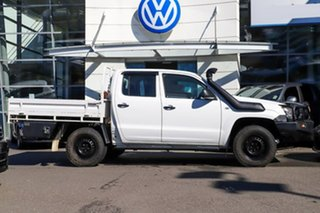 2013 Volkswagen Amarok 2H MY13 TDI400 4Mot White 6 Speed Manual Cab Chassis.