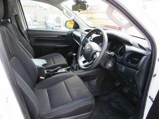 2019 Toyota Hilux GUN136R MY19 Upgrade SR Hi-Rider White 6 Speed Manual Double Cab Pick Up