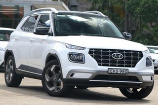 2020 Hyundai Venue QX MY20 Elite (Black Interior) Polar White 6 Speed Automatic Wagon.