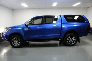 2016 Toyota Hilux GUN126R SR5 Double Cab Blue 6 Speed Sports Automatic Utility