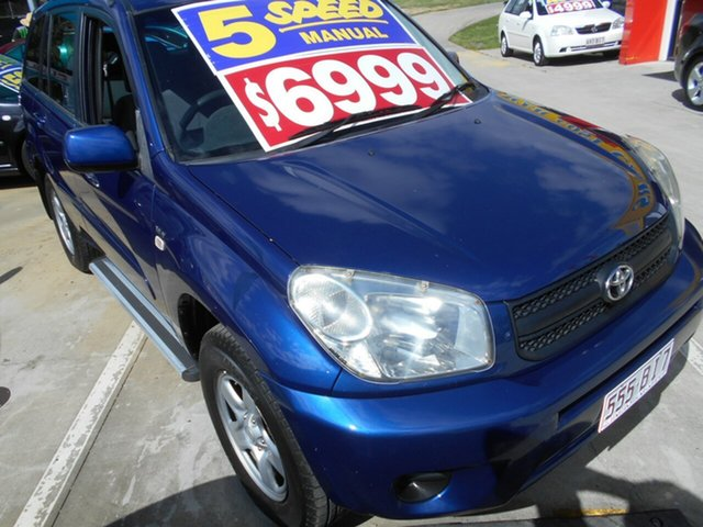 Used Toyota RAV4 ACA23R CV Springwood, 2004 Toyota RAV4 ACA23R CV Blue 5 Speed Manual Wagon