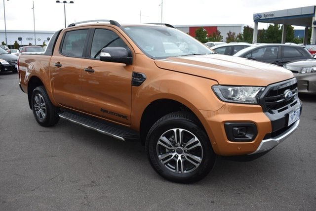 Used Ford Ranger PX MkIII 2020.25MY Wildtrak Essendon Fields, 2020 Ford Ranger PX MkIII 2020.25MY Wildtrak Orange 10 Speed Sports Automatic Double Cab Pick Up
