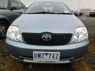 2002 Toyota Corolla ZZE122R Ascent Blue 4 Speed Automatic Hatchback.