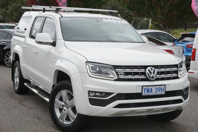 Used Volkswagen Amarok 2H MY17 TDI550 4MOTION Perm Highline Phillip, 2017 Volkswagen Amarok 2H MY17 TDI550 4MOTION Perm Highline Candy White 8 Speed Automatic Utility
