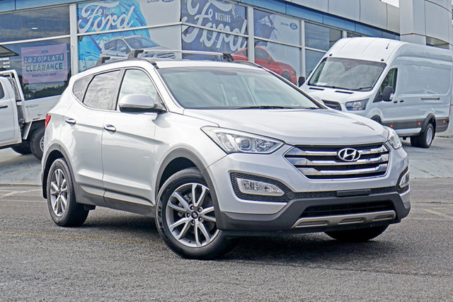Used Hyundai Santa Fe DM MY14 Elite Springwood, 2014 Hyundai Santa Fe DM MY14 Elite Silver 6 Speed Sports Automatic Wagon
