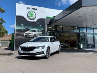 2021 Skoda Superb NP MY21 206TSI DSG SportLine White 6 Speed Sports Automatic Dual Clutch Wagon.