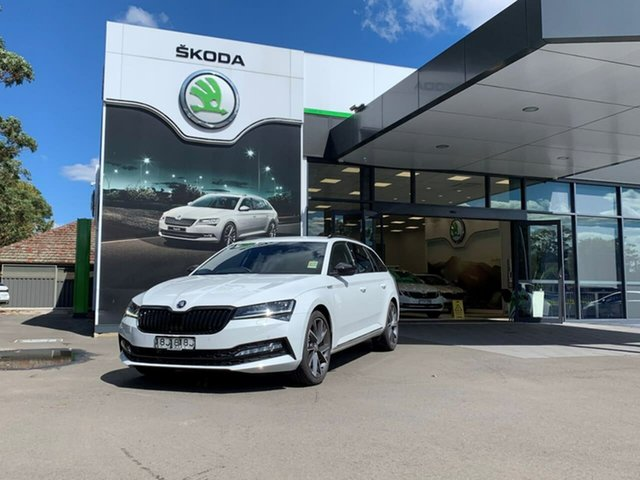 Demo Skoda Superb NP MY21 206TSI DSG SportLine Botany, 2021 Skoda Superb NP MY21 206TSI DSG SportLine White 6 Speed Sports Automatic Dual Clutch Wagon