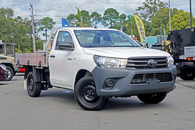 Used Toyota Hilux TGN121R Workmate 4x2 Chandler, 2019 Toyota Hilux TGN121R Workmate 4x2 White 5 Speed Manual Cab Chassis