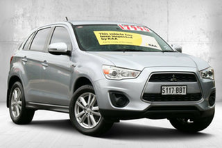 2013 Mitsubishi ASX XB MY14 2WD Cool Silver 6 Speed Constant Variable Wagon.