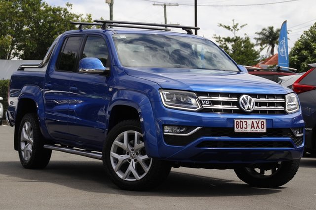 Used Volkswagen Amarok 2H MY17 TDI550 4MOTION Perm Ultimate Mount Gravatt, 2016 Volkswagen Amarok 2H MY17 TDI550 4MOTION Perm Ultimate Blue 8 Speed Automatic Utility