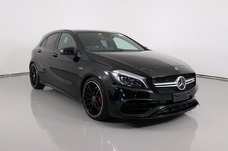 2017 Mercedes-AMG A 45 176 MY17.5 4Matic Black 7 Speed Auto Dual Clutch Hatchback.