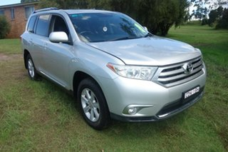 2012 Toyota Kluger GSU40R MY12 KX-S 2WD Silver 5 Speed Sports Automatic Wagon.