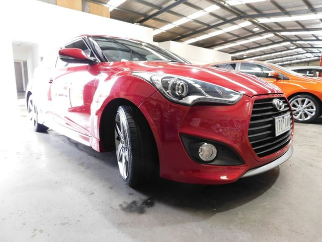Pre-Owned Hyundai Veloster FS4 Series II SR Coupe D-CT Turbo + Wonthaggi, 2015 Hyundai Veloster FS4 Series II SR Coupe D-CT Turbo + Red 7 Speed Sports Automatic Dual Clutch