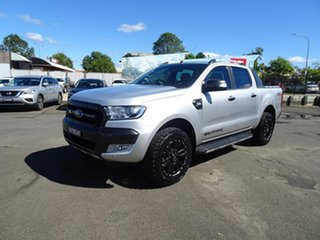 2017 Ford Ranger PX MkII Wildtrak Double Cab Ingot Silver 6 Speed Automatic Utility