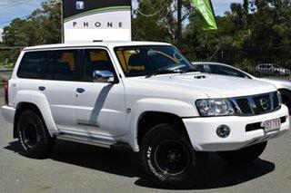 2013 Nissan Patrol GU VIII ST (4x4) White 5 Speed Manual Wagon.
