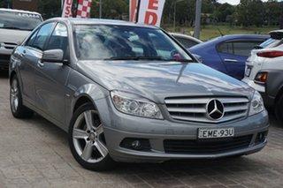 2010 Mercedes-Benz C-Class W204 MY10 C200 CGI Classic Grey 5 Speed Sports Automatic Sedan.
