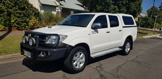 2011 Toyota Hilux KUN26R MY11 Upgrade SR5 (4x4) White 5 Speed Manual Dual Cab Pick-up.