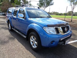2011 Nissan Navara D40 MY10 ST-X Blue 6 Speed Manual Utility.