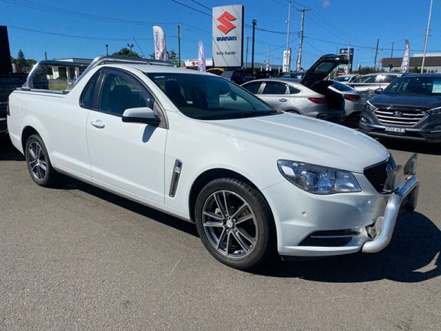 Used Holden Ute VF MY14 Ute Cardiff, 2013 Holden Ute VF MY14 Ute White 6 Speed Sports Automatic Utility
