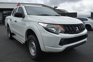 2017 Mitsubishi Triton MQ MY17 GLX Double Cab White 5 Speed Sports Automatic Utility.