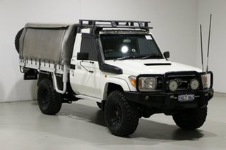 2011 Toyota Landcruiser VDJ79R 09 Upgrade GXL (4x4) White 5 Speed Manual Cab Chassis