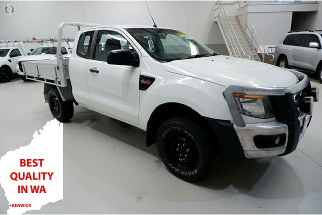 Used Ford Ranger PX XL Kenwick, 2015 Ford Ranger PX XL White 6 Speed Manual Cab Chassis
