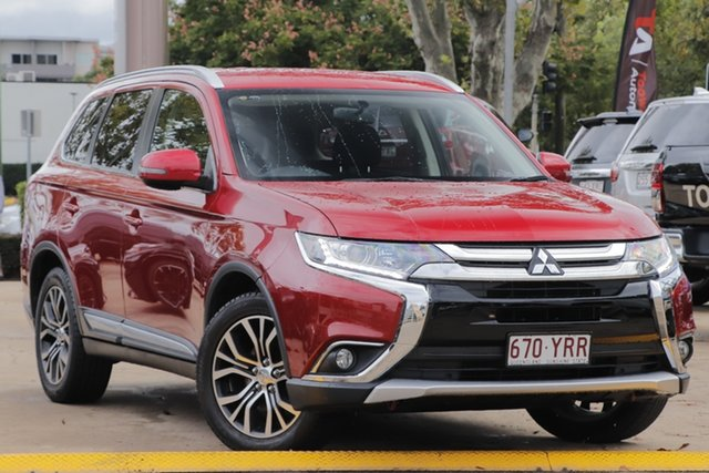 Used Mitsubishi Outlander ZK MY17 LS 4WD Toowoomba, 2016 Mitsubishi Outlander ZK MY17 LS 4WD Red 6 Speed Constant Variable Wagon