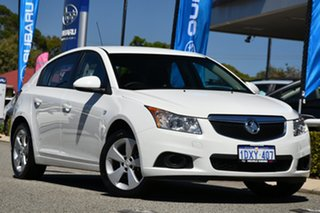 2012 Holden Cruze JH Series II MY13 Equipe White 6 Speed Sports Automatic Hatchback.