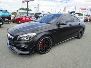 2017 Mercedes-Benz CLA-Class C117 807MY CLA45 AMG SPEEDSHIFT DCT 4MATIC Black 7 Speed.