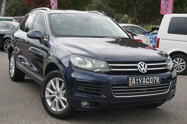 Used Volkswagen Touareg 7P MY14 150TDI Tiptronic 4MOTION Phillip, 2013 Volkswagen Touareg 7P MY14 150TDI Tiptronic 4MOTION Night Blue 8 Speed Sports Automatic Wagon