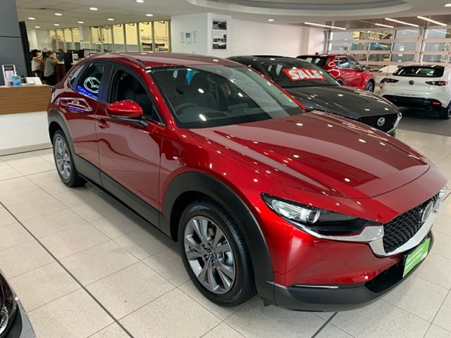 New Mazda CX-30 DM2W7A G20 SKYACTIV-Drive Evolve Alexandria, 2021 Mazda CX-30 DM2W7A G20 SKYACTIV-Drive Evolve Soul Red Crystal 6 Speed Sports Automatic Wagon