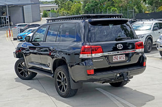 2015 Toyota Landcruiser VDJ200R Sahara Black 6 Speed Sports Automatic Wagon.