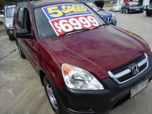 Used Honda CR-V RD MY2004 4WD Springwood, 2004 Honda CR-V RD MY2004 4WD Red 5 Speed Manual Wagon
