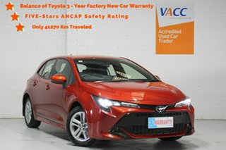 2019 Toyota Corolla Mzea12R Ascent Sport Orange 10 Speed Constant Variable Hatchback.