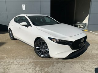 2021 Mazda 3 BP2H7A G20 SKYACTIV-Drive Evolve Snowflake White 6 Speed Sports Automatic Hatchback.
