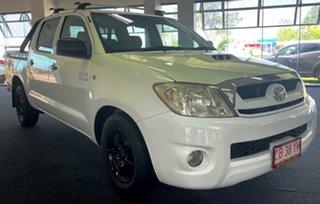 2009 Toyota Hilux KUN16R MY10 SR 4x2 White 5 Speed Manual Utility.