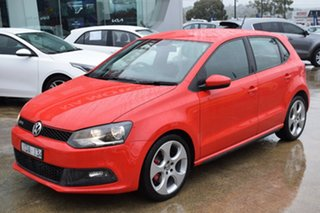 2011 Volkswagen Polo 6R MY11 GTI DSG Red/Black 7 Speed Sports Automatic Dual Clutch Hatchback.